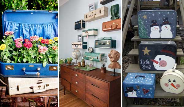 30 Fabulous Diy Decorating Ideas With Repurposed Old Suitcases