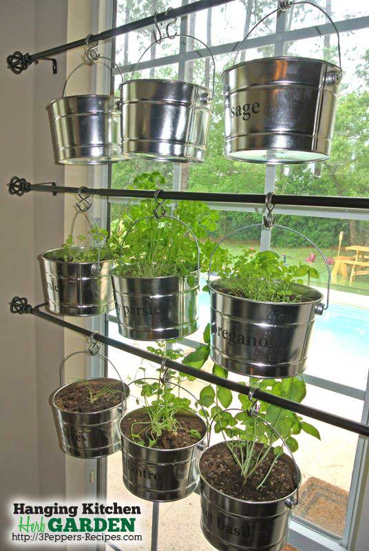 Low budget and easy container ideas for herb garden for Patio herb garden designs containers