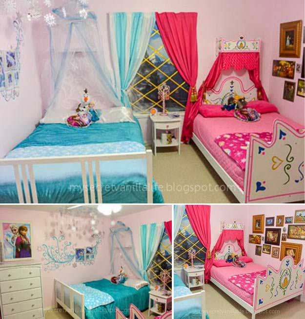 25 cute frozen themed room decor ideas your kids will love for Anna decoration in home
