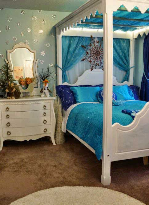 25 cute frozen themed room decor ideas your kids will love for Cute hotel rooms