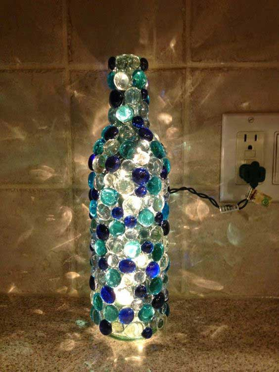 20 awesome ideas how to make wine bottle lights for How to make wine bottle crafts