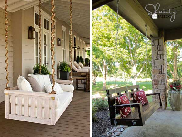 24 low cost ways to power up your homes curb appeal for Shanty 2 chic porch swing