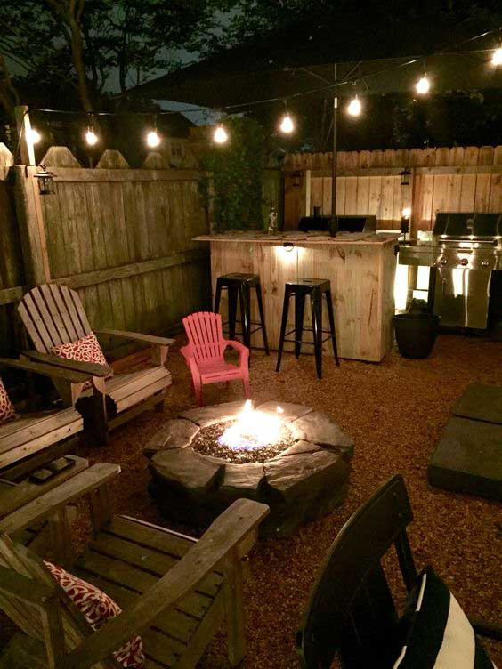 ultimate wood fire pit #FirePit #HomeDecor #Backyard
