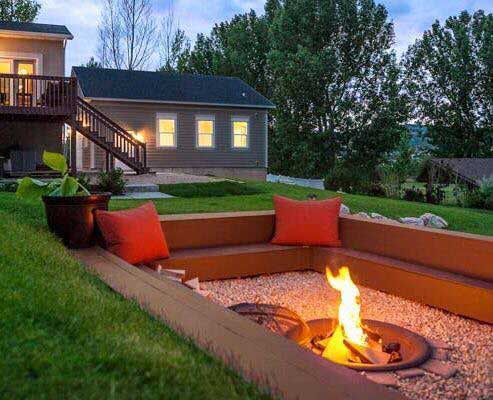 ultimate 72 fire pit #FirePit #HomeDecor #Backyard