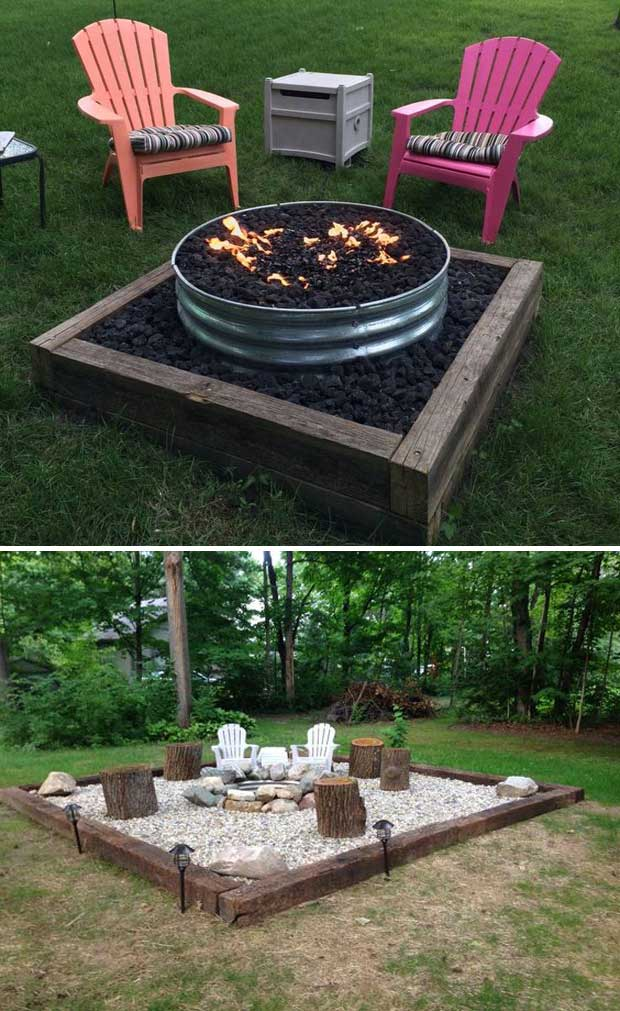 22 backyard fire pit ideas with cozy seating area for Garden sit out designs