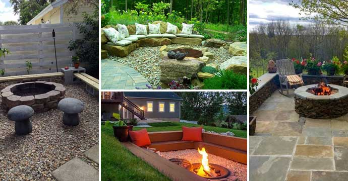 22 Backyard Fire Pit Ideas with Cozy Seating Area