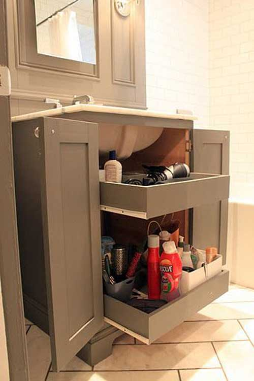 Cool Pull Out Storage Ideas For Bathroom Homedesigninspired
