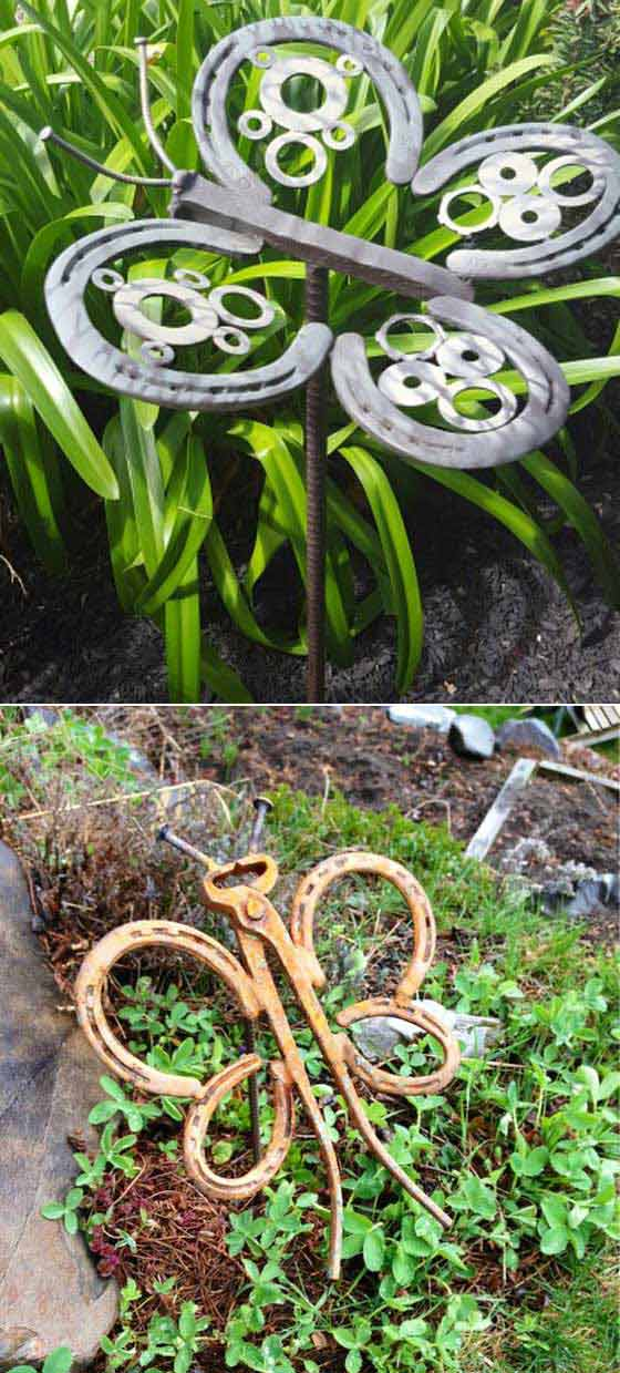 #5. Weld Horseshoes And Nails Together To Make These Wonderful Metal  Butterflies: