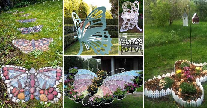 Truly cool and low budget garden decorations inspired by for Butterfly garden plans designs