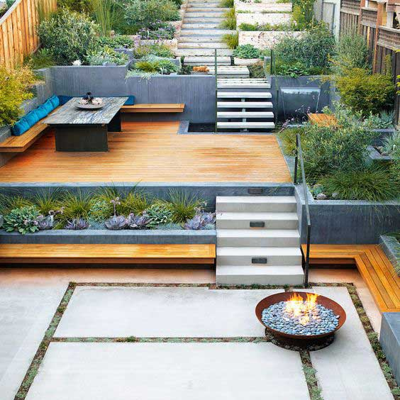 22 Amazing Ideas to Plan a Slope Yard That You Should Not ... on Decking Ideas For Sloping Garden id=87982