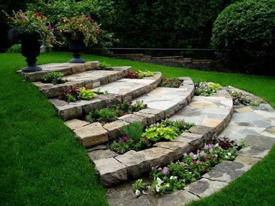 22 Amazing Ideas to Plan a Slope Yard That You Should Not ... on Sloping Garden Ideas id=11208