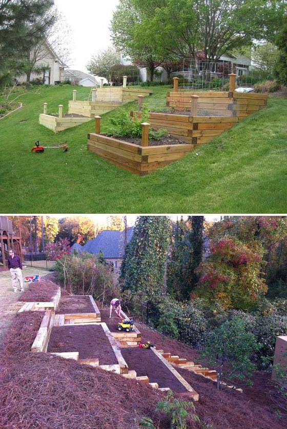 22 amazing ideas to plan a slope yard that you should not for Garden design on a slope