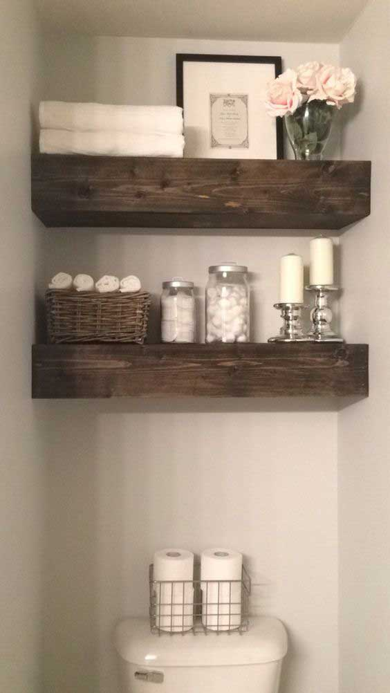 22 ways to boost and refresh your bathroom by adding wood for Adding bathroom to house