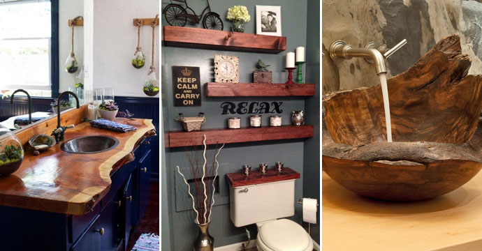 Ways To Boost And Refresh Your Bathroom By Adding Wood Accents