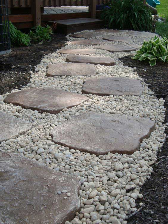 Lay A Stepping Stones And Path Combo To Update Your Landscape U2013  HomeDesignInspired