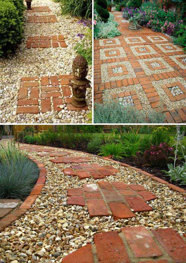 Lay a stepping stones and path combo to update your Round wooden stepping stones