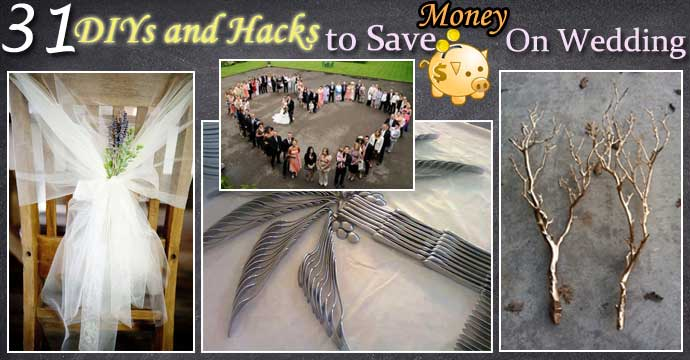 The Best 31 DIYs and Hacks To Save Money On Your Wedding
