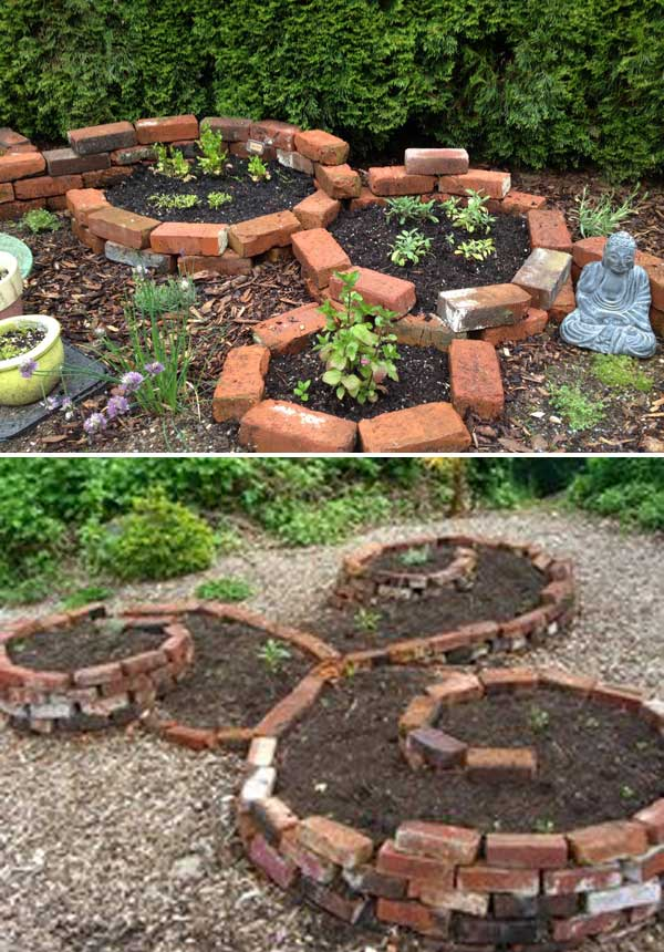 Make Round Raised Garden Bed With Bricks
