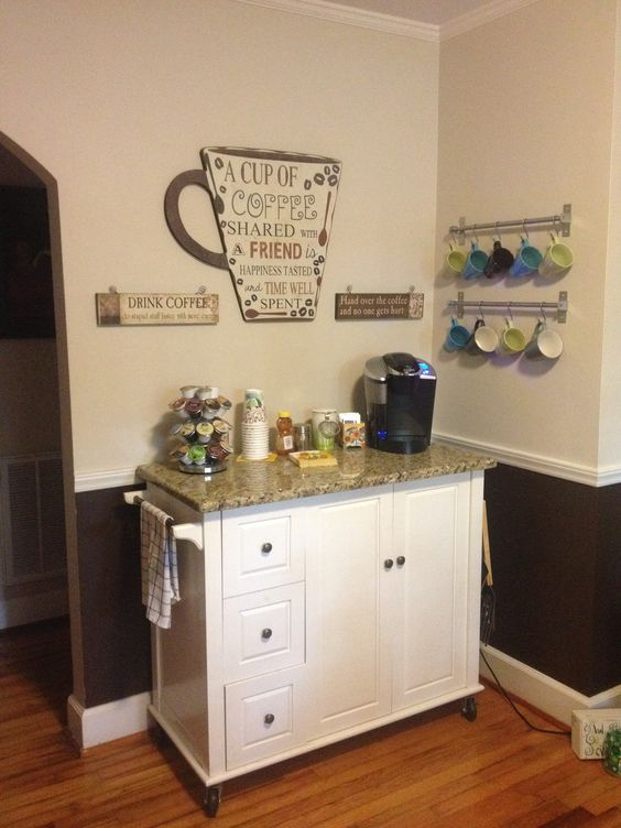 24 Places to Which You Can Build a Home Coffee Station  : set up a coffee station at home 19 from www.homedesigninspired.com size 564 x 752 jpeg 55kB