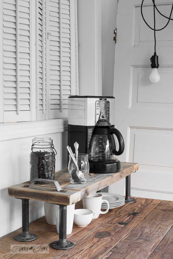 Top 29 Diy Ideas Adding Rustic Farmhouse Feels To Kitchen: 24 Places To Which You Can Build A Home Coffee Station