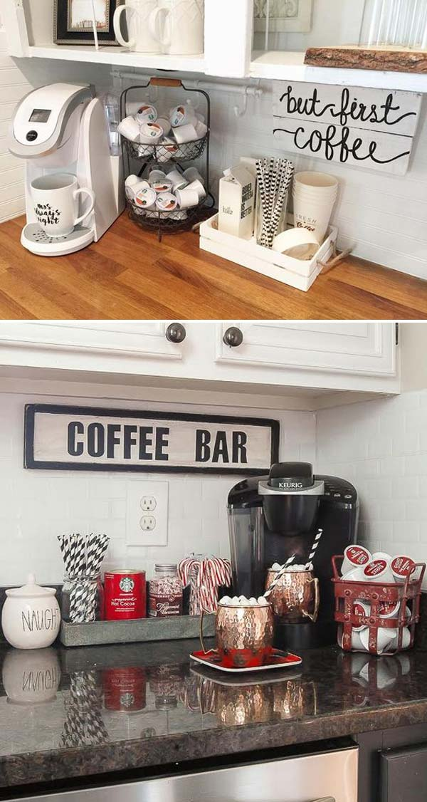 24 Places to Which You Can Build a Home Coffee Station ...