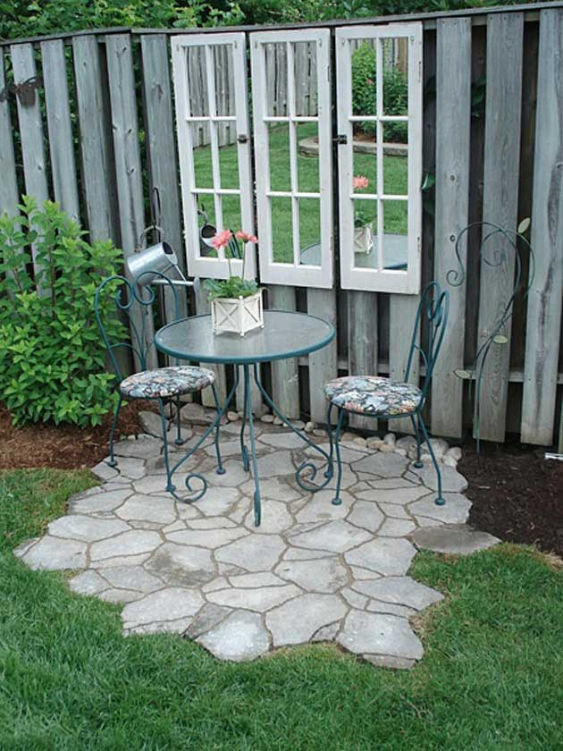 23 Easy-to-Make Ideas Building a Small Backyard Seating ... on Small Garden Sitting Area Ideas id=81529