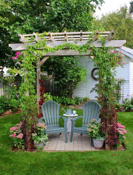 23 Easy-to-Make Ideas Building a Small Backyard Seating ... on Small Garden Sitting Area Ideas id=25744