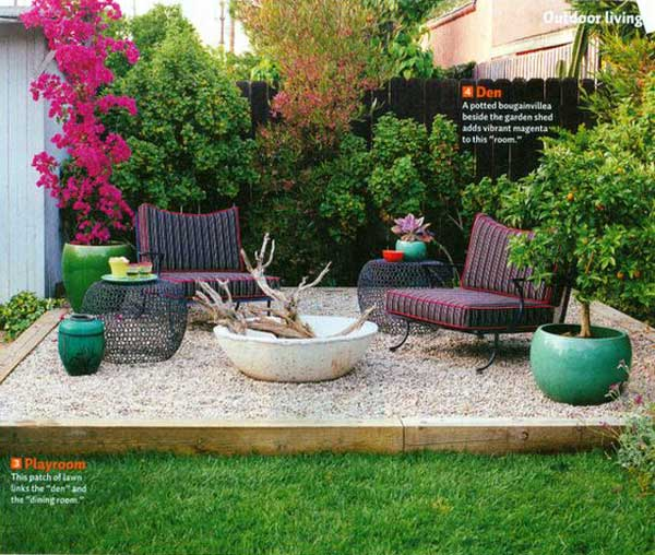 23 Easy-to-Make Ideas Building a Small Backyard Seating ... on Back Garden Seating Area Ideas id=30961