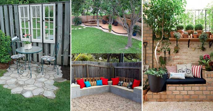 23 Easy-to-Make Ideas Building a Small Backyard Seating ... on Small Garden Sitting Area Ideas id=77397