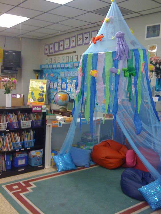 Kid S Reading Corner Looks Like It Under The Sea