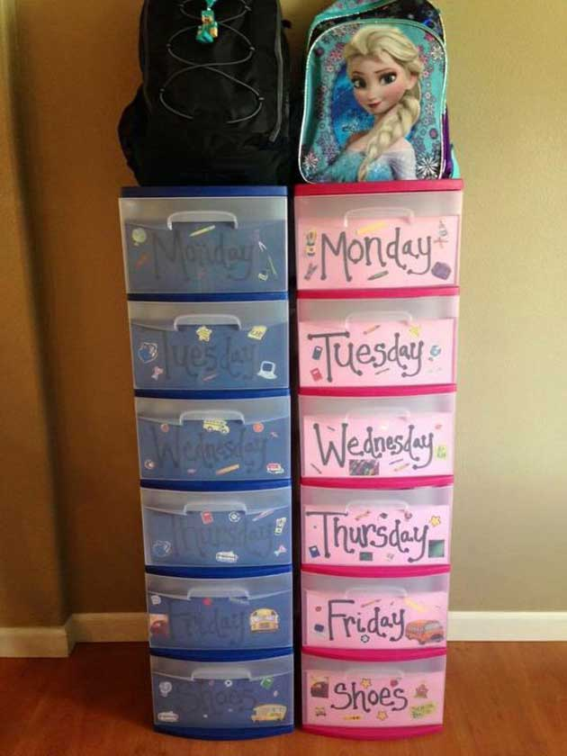 organization hacks diys clever put monday friday backpack outfits place projects homedesigninspired