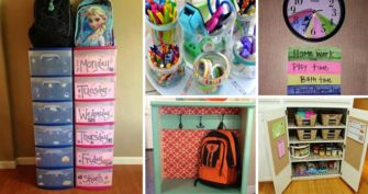 Clever Back to School Organization Hacks and DIYs