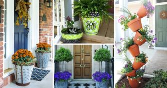 30 Best Front Door Flower Pots to Liven Up Your Home With