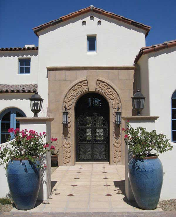 Decorating The Entrance To The House 40 Nice Ideas: 30 Best Front Door Flower Pots To Liven Up Your Home With