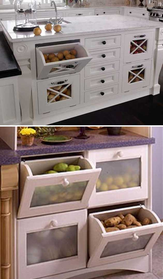 Built In Vegetable Storage To Keep Non Refrigerator Veggies Safe From Pets.