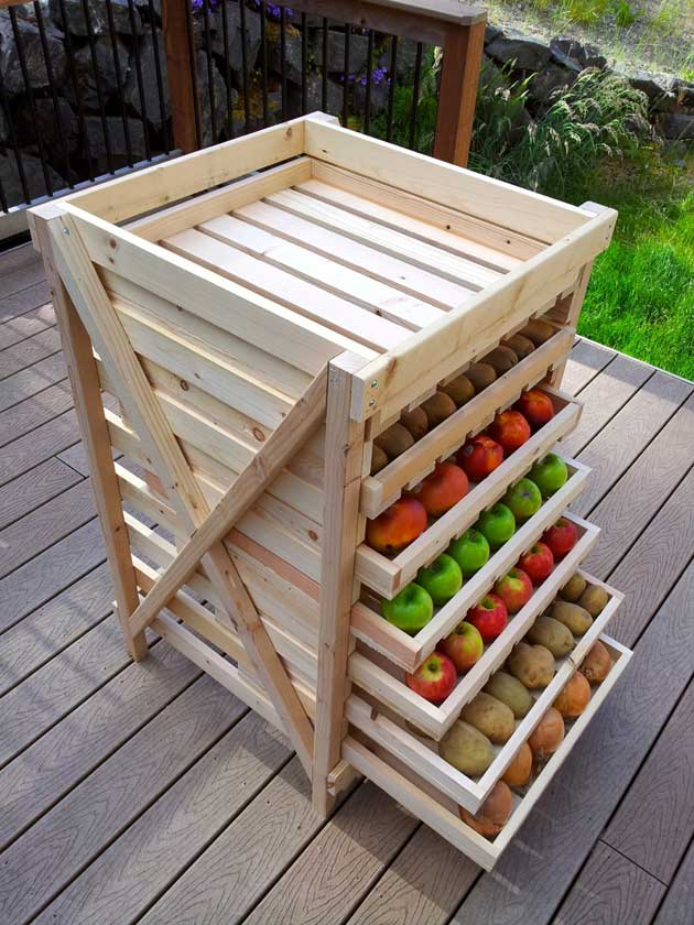 Perfect Build A Multi Layer Shelf As Produce Storage.