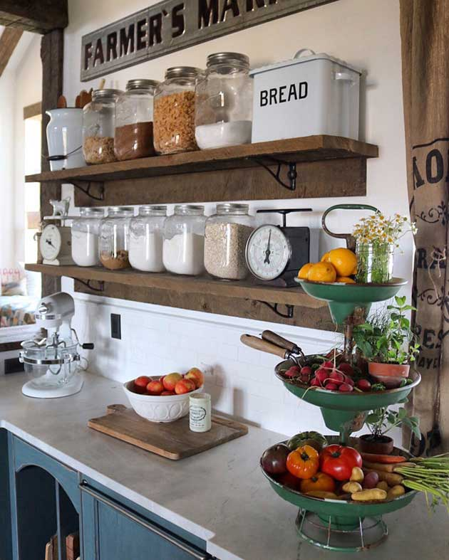 Top 29 diy ideas adding rustic farmhouse feels to kitchen for Farm style kitchen decor