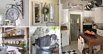Top 29 DIY Ideas Adding Rustic Farmhouse Feels To Kitchen