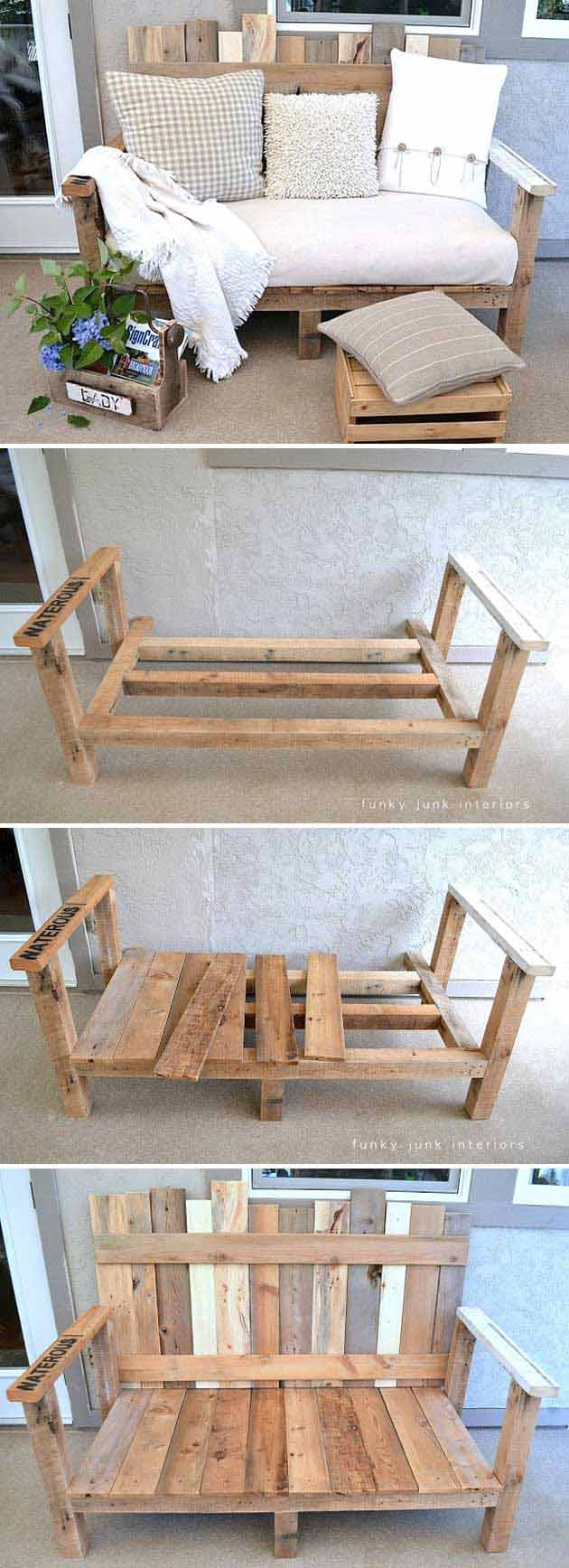 20 insanely cool diy yard and patio furniture for Cool homemade furniture