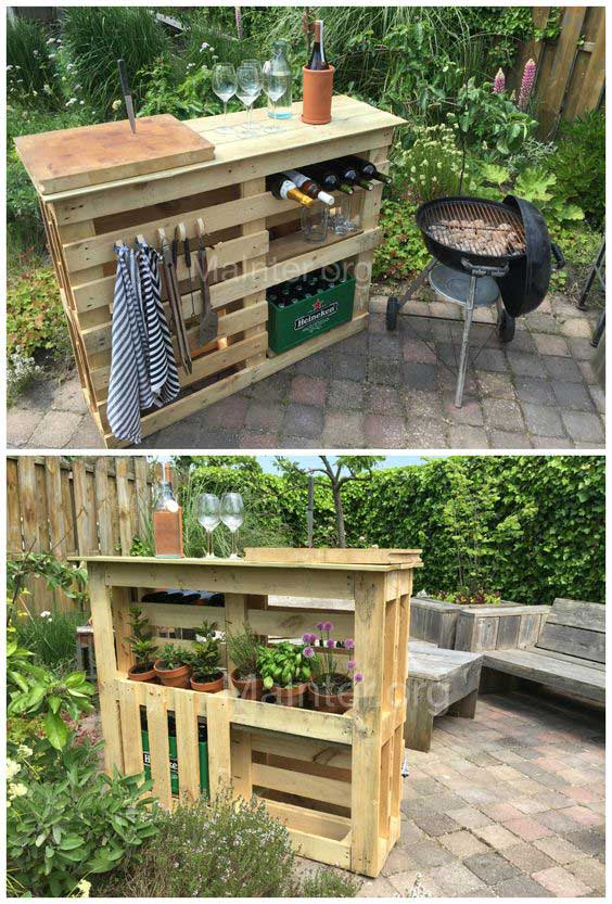 20 Insanely Cool DIY Yard and Patio Furniture ... on Diy Bbq Patio id=62219