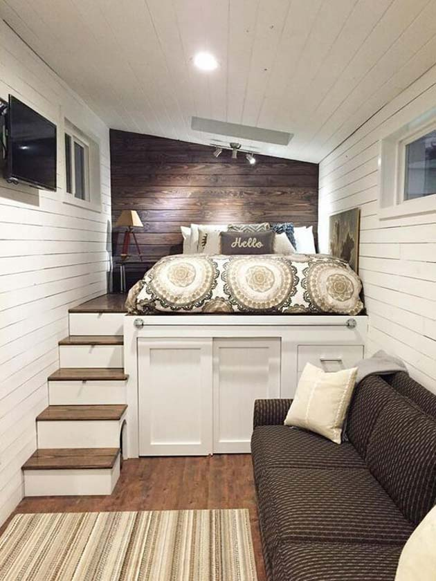 31 Small Space Ideas to Maximize Your Tiny Bedroom ... on Room Ideas For Small Rooms  id=69702