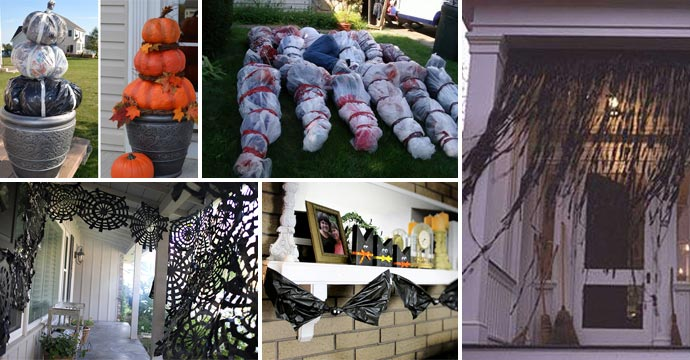 Top 20 Ideas Turn Trash Bags Into Creepy Halloween Decorations & Top 20 Ideas Turn Trash Bags Into Creepy Halloween Decorations ...