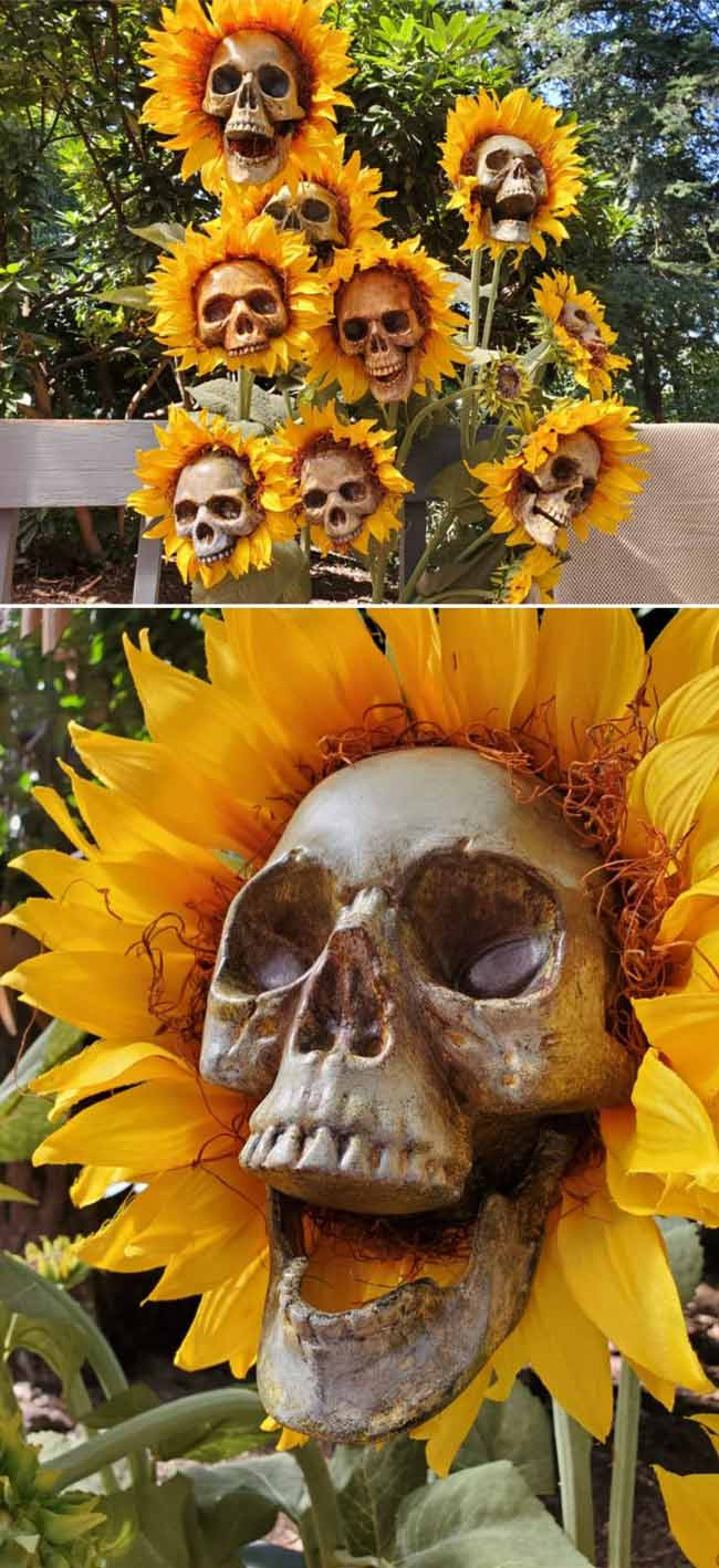 46 Cool DIY Outdoor Halloween Decorations (Cheap & Easy!) on Lawn Decorating Ideas id=98112