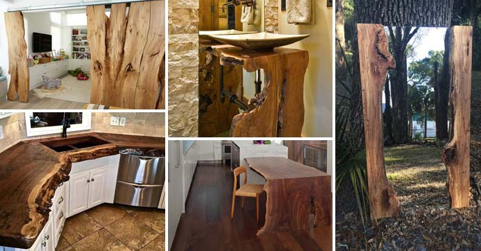 Home Decor Natural Wood: Top 20 Cool Decorating Ideas With Live Edge Wood