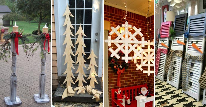 22 Most Simple and Beautiful Reclaimed Wood Christmas Decorations