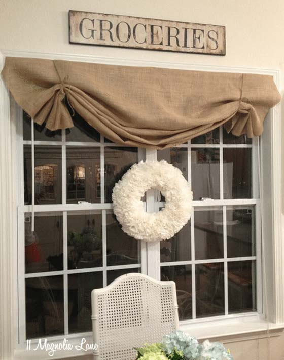 diy window valance shaped valance enhance the look of your dining room with nosew diy burlap window valance 20 very cheap and easy window valance ideas you would love