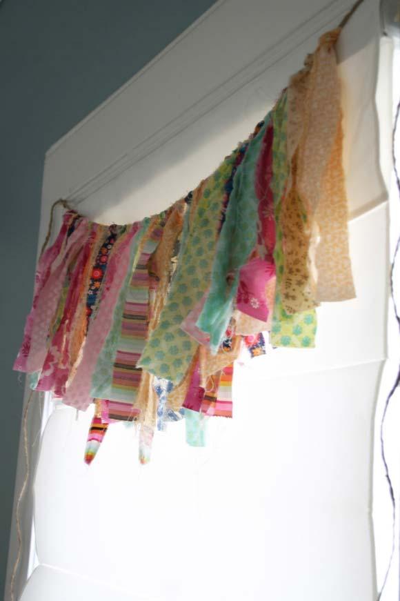 Scrap fabric valance