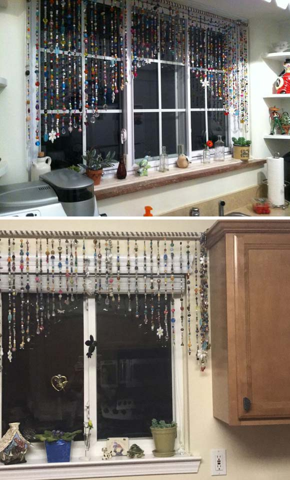 bead garland turned into valance