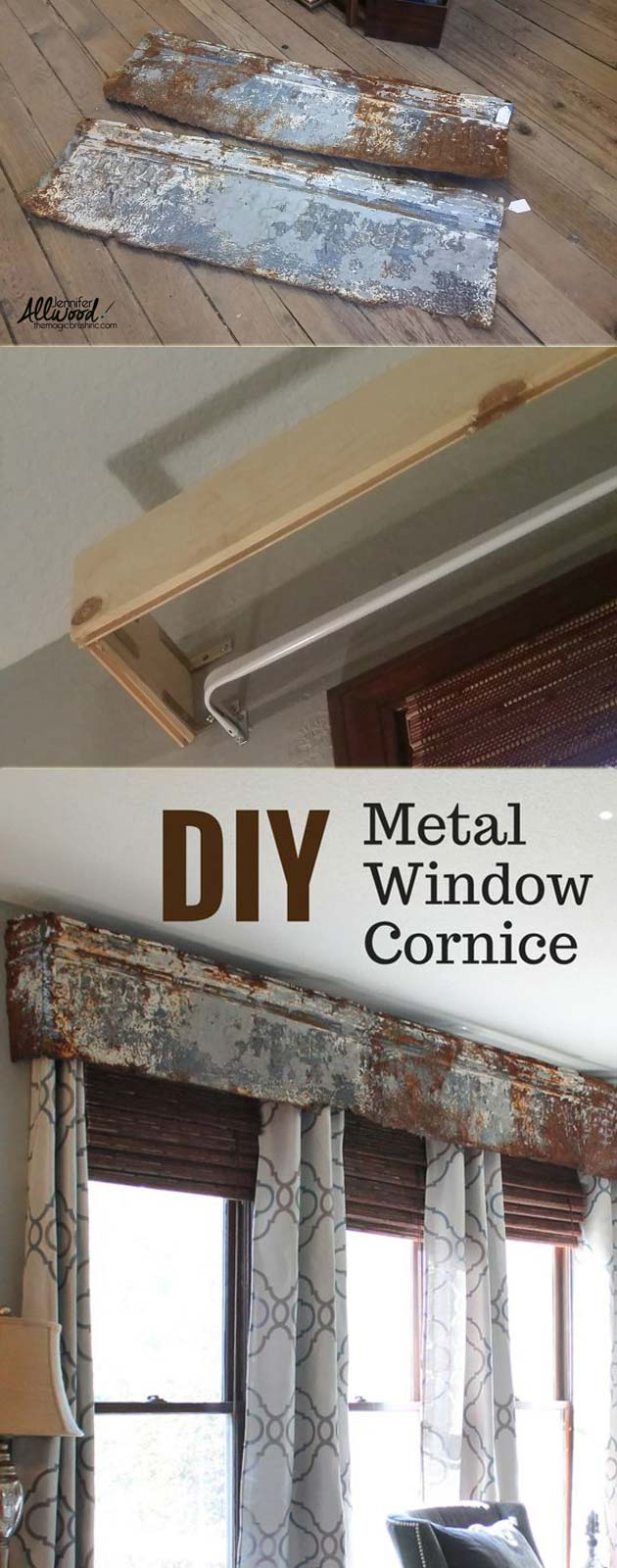 diy metal window cornice