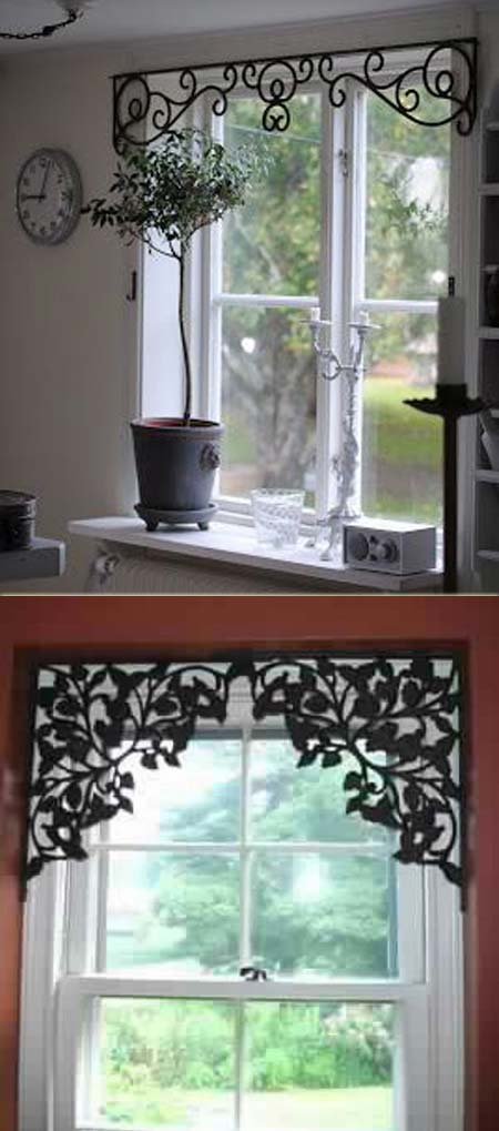 wrought iron valance